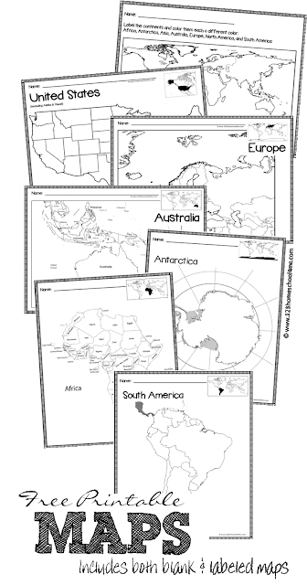 FREE Printable Maps | 123 Homeschool 4 Me