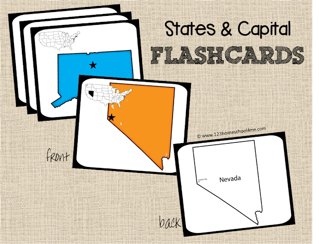 picture relating to State and Capitals Flash Cards Printable titled Totally free Place Capitals Sport 123 Homeschool 4 Me