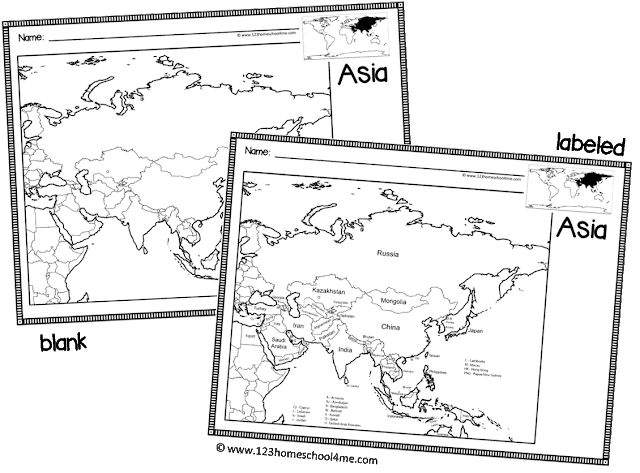 FREE World Maps - includes both labeled and blank maps from united states, continents, and world maps
