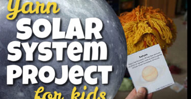 Make learning about the solar system for kids FUN my making your own solar system project! This fun, inespensive solar system for kids is made of YARN! Children of all ages from preschool, pre-k, kindergarten, first grade, 2nd grade, 3rd grade, 4th grade, 5th grade, and 6th graders will enjoy making. This 3d solar system project is easy to make and an inexpensive way to make a solar system model that will leave an impression on kids! Use this as you study planets for kids, a solar system unit, a school project, or science fair projects kids will love! Don't forget to grab the free solar system printables to help students working on the solar system for kids project.