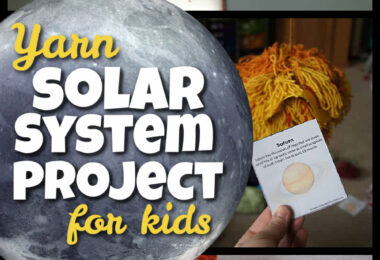 Make learning about the solar system for kids FUN my making your own solar system project! This fun, inespensive solar system for kids is made of YARN! Children of all ages from preschool, pre-k, kindergarten, first grade, 2nd grade, 3rd grade, 4th grade, 5th grade, and 6th graders will enjoy making. This 3d solar system project is easy to make and an inexpensive way to make a solar system model that will leave an impression on kids! Use this as you studyplanets for kids, a solar system unit, a school project, or science fair projects kids will love! Don't forget to grab the free solar system printables to help students working on thesolar system for kids project.