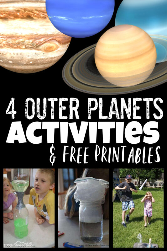Is your child fascinated by outer space? They are going to love learning about the Solar System for kids with this fun hands-on science lesson. Today we are exploring the outer planets for kids which include the 4 outer planets of Jupiter, Saturn, Uranus, and Neptune. We've includedsolar system worksheets for kids plus lots of fun, engaging, hands-onplanet activitiesfor kid to learn about these fascinating planets! Thisjupiter for kids andsaturn for kids anduranus for kids, andneptune for kids lesson is fun for preschool, pre-k, kindergarten, first grade, 2nd grade, 3rd grade, 4th grade, 5th grade, and 6th graders too.