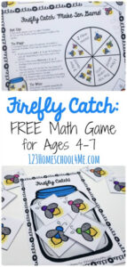 Firefly addition and subtraction game for kids