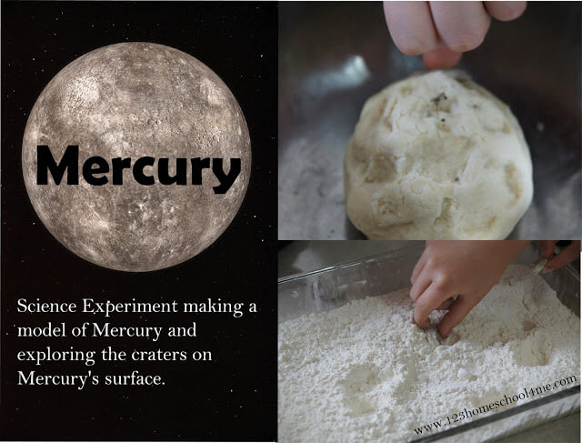 Mercury Science Project for Solar System Unit for Kids