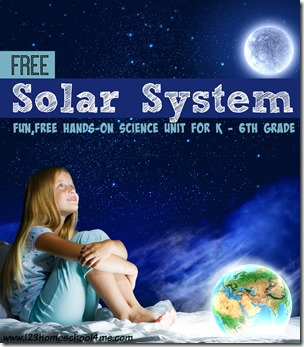 Solar System - fun, free hands on scinece unit for elementary homeschool students