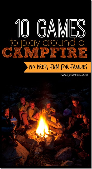 Campfire Games - 10 FUN, no prep, Campfire Games for families, youth groups, and friends to have fun and create memories around a campfire. Great for summer camping trips! (family vacation, camping, family games, play) #camping #familyvacation #campfiregames