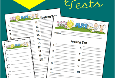 May Spelling Tests for Kids