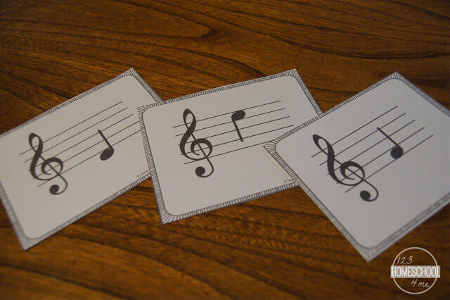 free music note flashcards