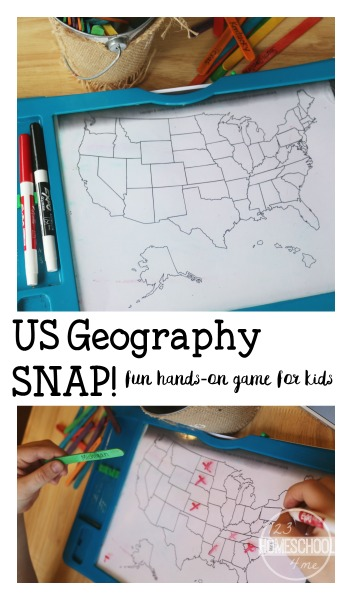 US Geography Games for homeschool, kindergarten, 1st grade, 2nd grade, 3rd grade, 4th grade and more. It makes learning United States Geography fun. #geographygames #usgeography #geographyforkids