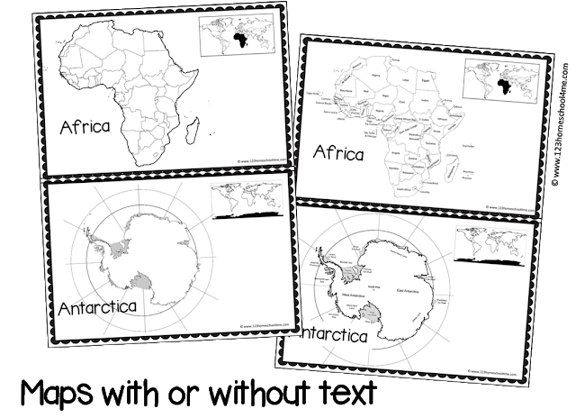graphic regarding Printable Continents named No cost Continents E-book for Little ones 123 Homeschool 4 Me