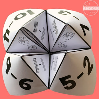 Practice using tally marks, ten frames and numerals with these free Cootie Catchers!