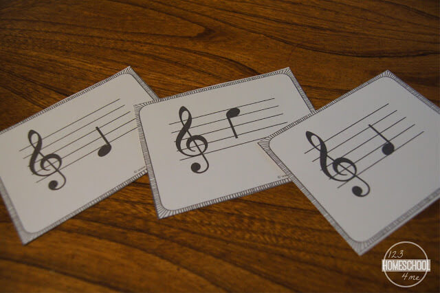 picture regarding Printable Musical Note titled Totally free Audio Take note Flashcards 123 Homeschool 4 Me