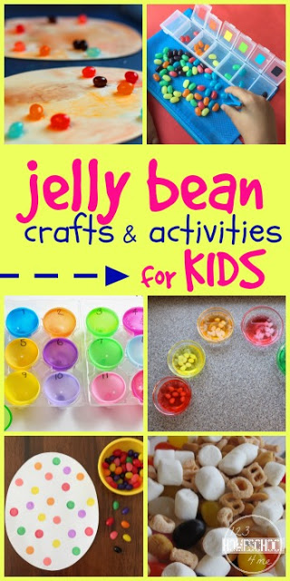 20 Kids Activities for National Jelly Bean Day on April 22 - so many fun, clever ideas for kids of all ages