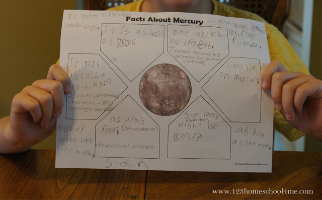 free planets worksheets for a solar system uni