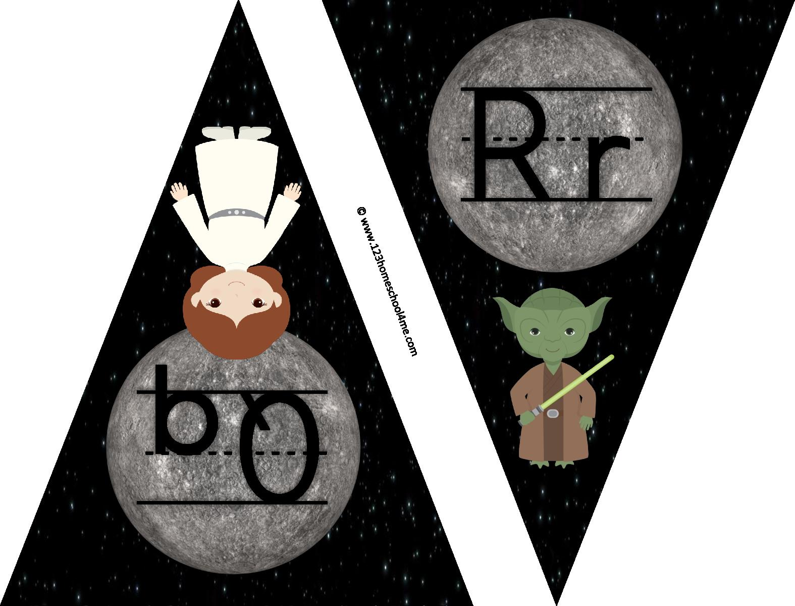 Grab this free star wars alphabet printable to help preschool, kindergarten, and first grade kids learn their letters.