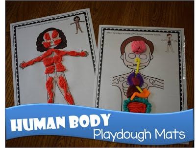 FREE-Human -Body-Playdough-Mats