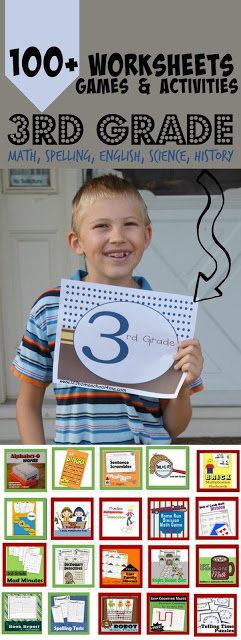 3rd grade - over 100 FREE 3rd grade worksheets, games, and activiites in math, spelling, english, science, history, 3rd grade math, and more - perfect for extra practice at home or homeschooling. So many super cute and fun educational activities to make learning FUN!