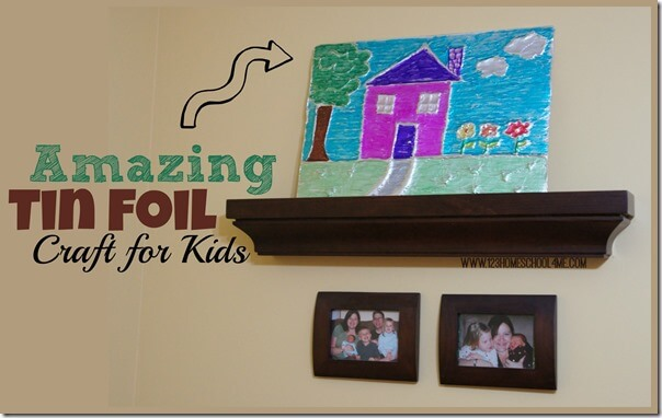 Amazing Tin Foil Art Project for Kids