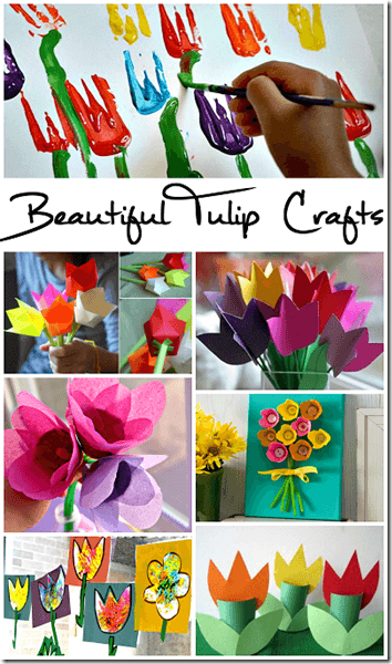 TONS of beautiful, unique, and fun Tulip Crafts for Kids from toddler, preschool, kindergarten, first grade, second grade, third grade, and more. So many fun kids activities for spring and summer bucket list.