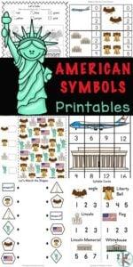 american symbols for kids worksheets