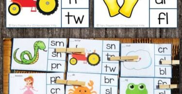 If your kids are learning about blends, you will love these free printable, handy consonant blends activities. Download and print these blends clip cards to practice identifying blends in words with first grade students. Included in these consonant blends are l blends, s blends and r blends.