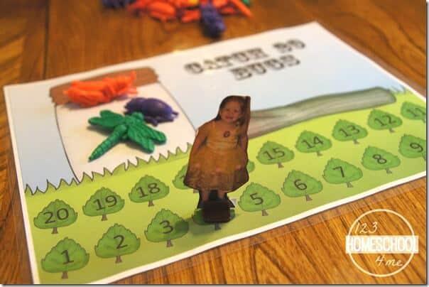 counting game for toddler, preschool, kindergarten
