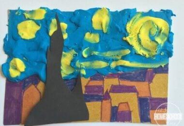 Van Gogh Starry Night Art Project for Kids