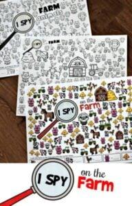 I Spy Farm Animals Printable