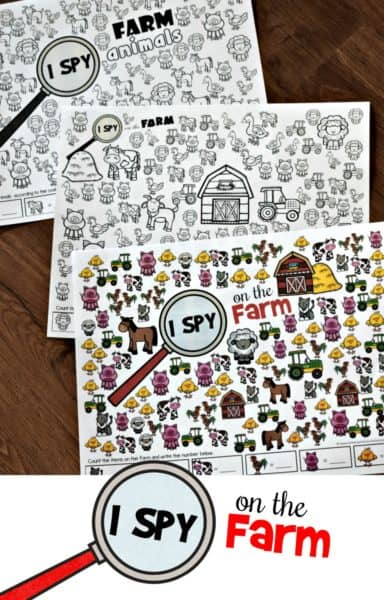 I Spy Farm Animals Printable