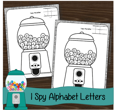 i spy letters alphabet worksheets