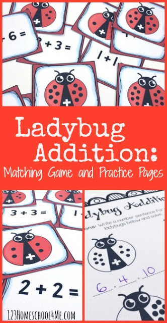FREE Ladybug Addition Math Game - this is such a fun math activities to help preschool, kindergarten, and first grade kids practice with a fun hands on addition game. This is also great for a math center. Perfect to help kids achieve math fluency  #addition #mathgame #kindergarten