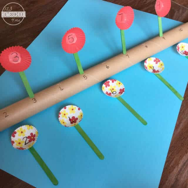 This fun number line for kindergarten also help skids work on skip counting