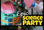Whether you are throwing an epic end-of-the-year science party or a really cool Science Birthday Party, you are going to love these science party ideas! Thisscience birthday is perfect for all ages from kindergarten, first grade, 2nd grade, 3rd grade, 4th grade, 5th grade, and 6th graders. including food, science experiments, and decorations for your party. Ourkids science party includes funscience birthday party games, cutescience party decorations, really coolscience birthday cake, classic vinegar and Baking Soda Balloon Experiment, plus lots of otherscience experiment birthday party.