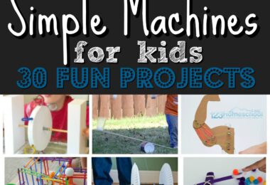 30 EPIC projects to explore simple machines for kids! These are such fun, hands on science projects for kids of all ages #simplemachines #scienceproject #scienceisfun