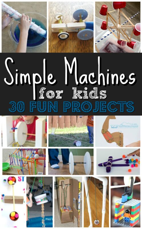 If you are learning about simple machines for kids and looking for some fun,hands-on STEM activities for kids, you are going to love thesesimple machine projects.With over 30 creative simple machine activities, we will show you how to make a simple machine as you learn about the 6 simple machines: inclined planes, wheel & axel, wedges, levers, pulley, and screws. We havesimple machines project ideas for kindergarten, first grade, 2nd grade, 3rd grade, 4th grade, 5th grade, and 6th grade students.