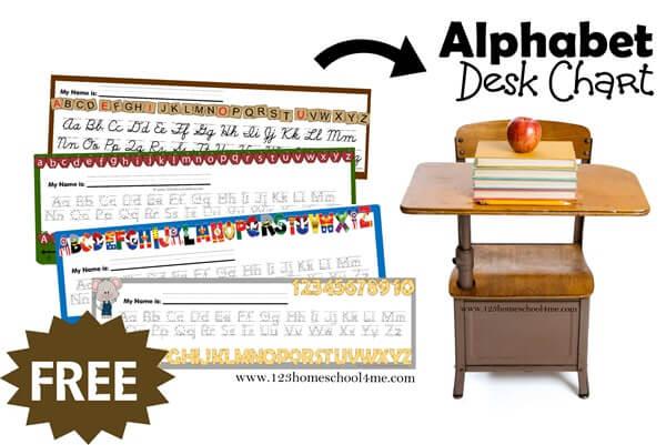 Free printable Alphabet Desk Charts Facebook