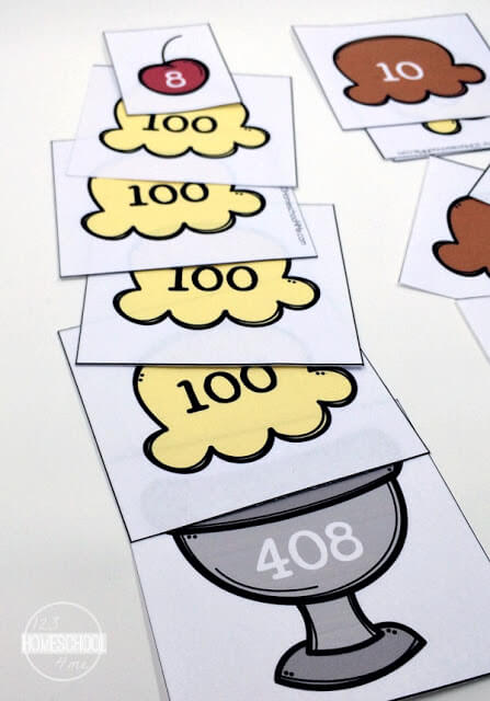 hands on math activity to help kindergarten, first grade, and second grade kids learn place value
