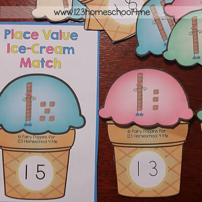 Place Value Ice-Creams Square