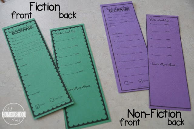 free printable reading comprehension activities for 2nd grade, 3rd grade, 4th grade, 5th grade, and 6th grade students There are two different choices to work with fiction and non fiction books