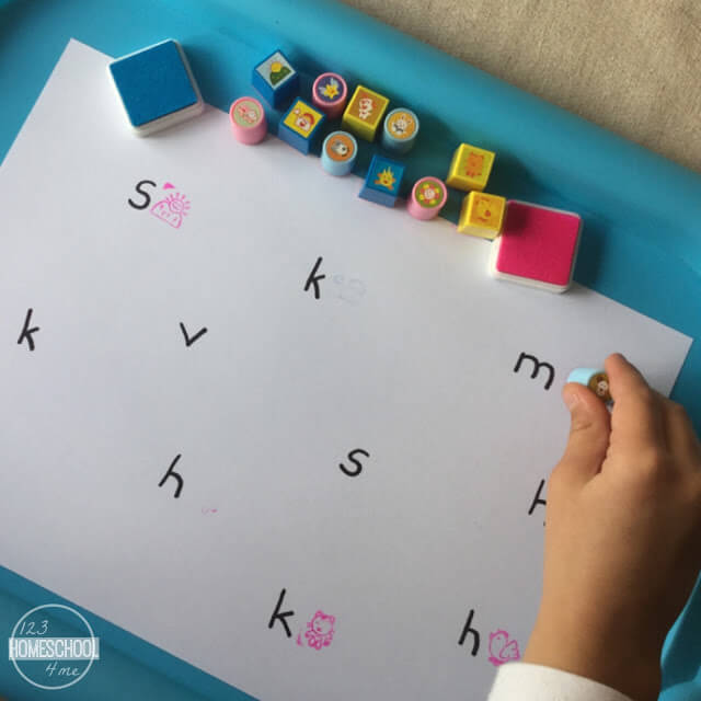 beginning sounds stamping kids activities