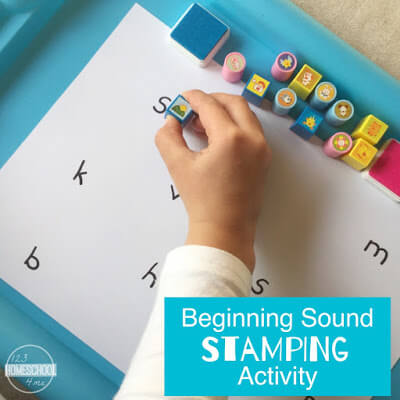 educational game stamping activity for preschool, prek, kindergarten, first grade
