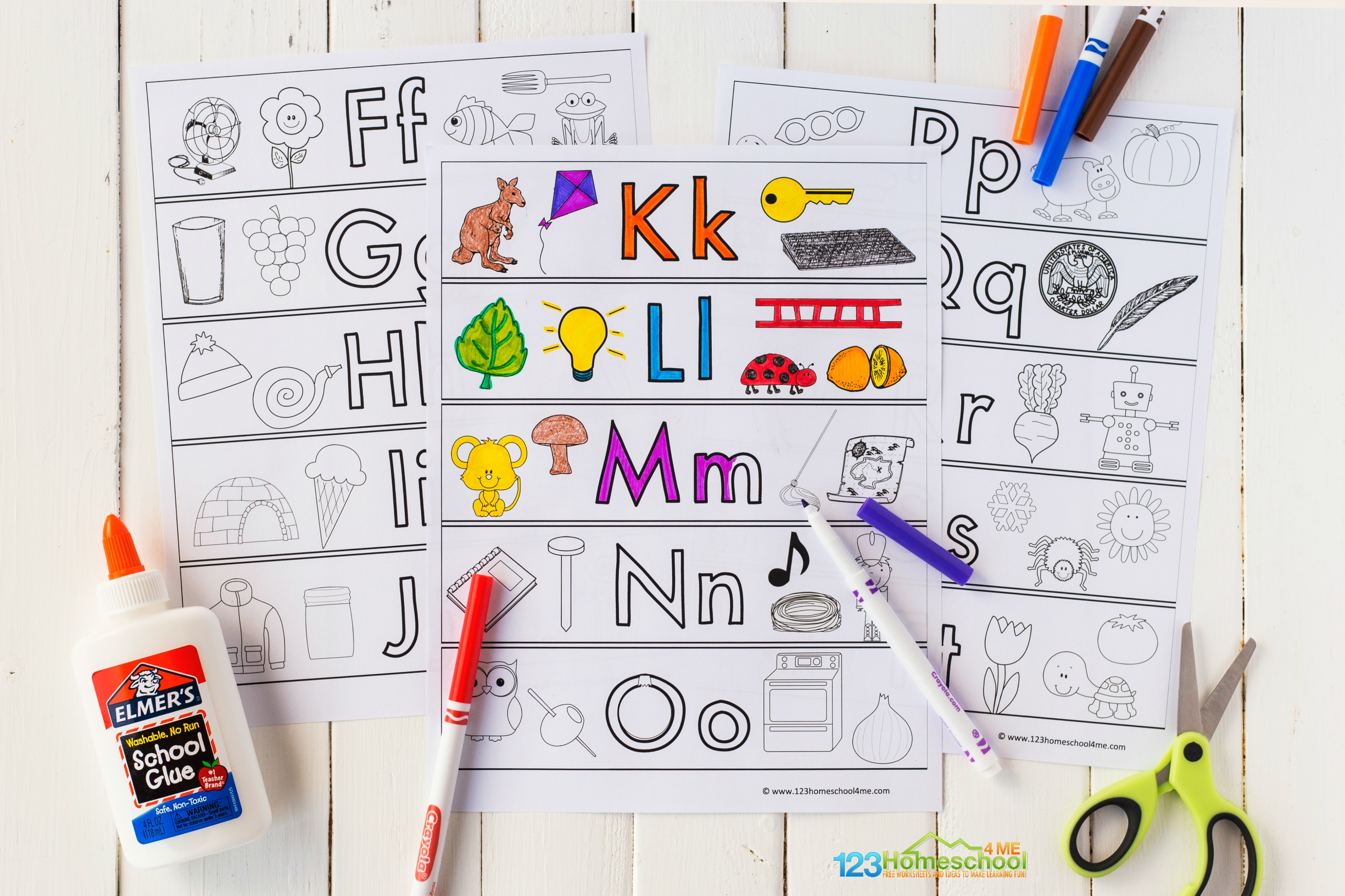 free abc printables to learn upper and lowercase letters, beginning sounds, and phonemic awareness with letter of the day or letter of the week with preschool, pre-k, and kindergarten age students