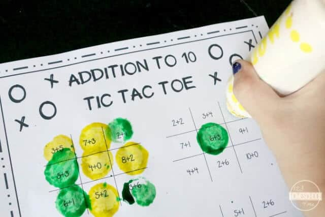 Addition Math Games - fun, free printable math game for kindergarten, first grade, second grade to practice addition
