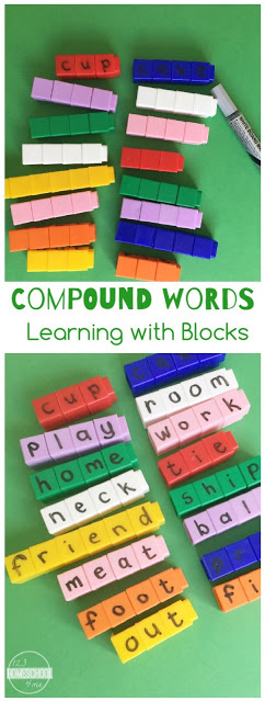 Compound Words Activities- this is such a fun learning activity for preschool, kindergarten, first grade, 2nd grade, and 3rd grade kids to understand and practice compound words.