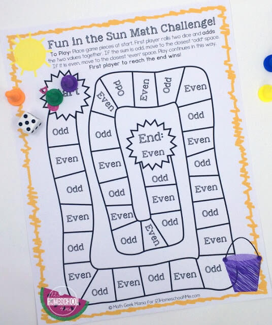 photograph relating to Multiplication Game Printable named Pleasurable Summer season Math Game titles 123 Homeschool 4 Me