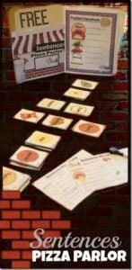 pizza parlor sentence building games