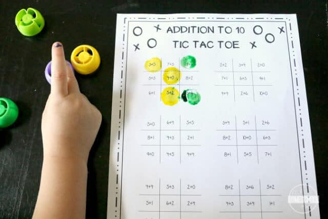 Addition Worksheets make practicing math fun with free printable tic tac toe math games
