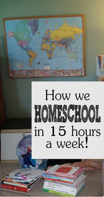 Are you worried you don't have enough time to homeshool? Or are you a homeschooling family and you feel like all you do is homeschool and are looking for a new homeschool schedule? I find many parents wonder how many hours a day do you homeschool. Although there are variety of contributing factors such as a child's grade, whether you are including extra curricular, and your state requirements, let me give you a glimpse at our homeschool day. Here is how we homeschool in only 15 hours a week!