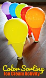 color matching ice cream activity