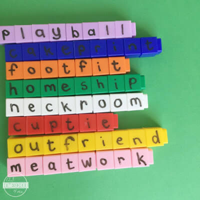 compounds words learning activity for kids in kindergarten first grade, second grade